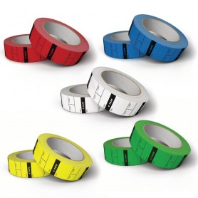 DIT Tape with approx. 250 Reel Tags - Div. Colors