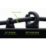 "Sprig-Cable Clip 3/8"" (3-pack) - Black"