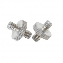 "Double Head Screw 1/4"" - 1/4"" - Pack of 2"