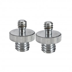 "Double Head Converter Screw 1/4"" - 3/8"" - Pack of 2"