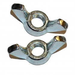 "Pack of 2 3/8"" wing nuts"