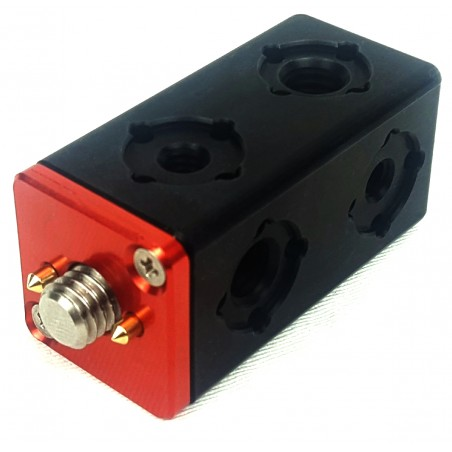 """HEB-2 Accessory Cube 3/8"""" or 1/4"""" with Arri compatible spring loaded locating pins"""