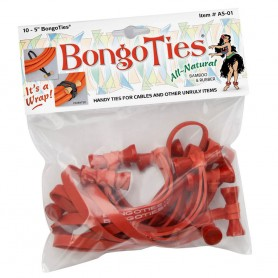 Bongoties red Pack of 10