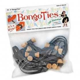 Bongo Ties black Pack of 10