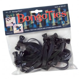 "Bongoties black ""Obsidian"" - Pack of 10"